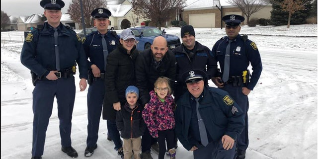 """A 6-year-old girl in Michigan got """"a very special escort home"""" upon her release from a roughly three-month stint in the hospital, police revealed Tuesday."""