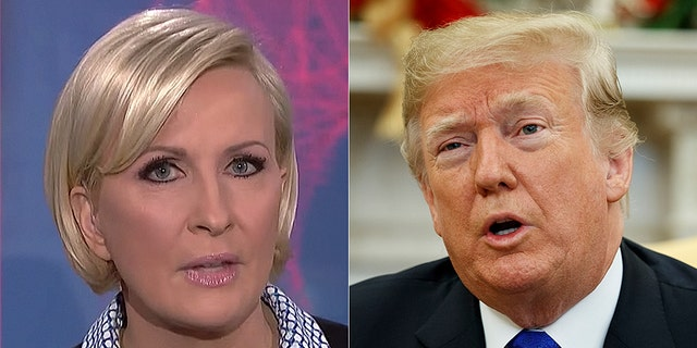 MSNBC host Mika Brzezinski would be in hot water if she were a Conservative, according to President Trump