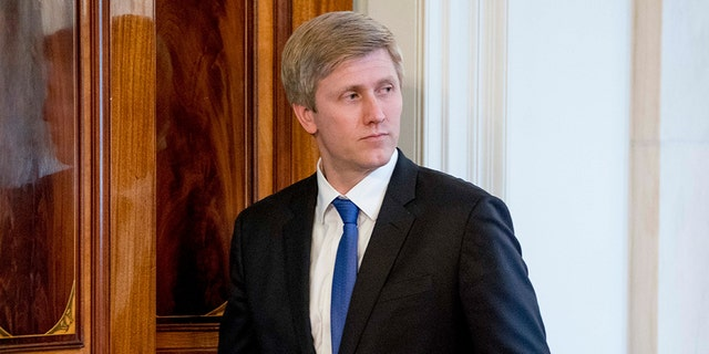 President Donald Trump's top pick to replace chief of staff John Kelly, Nick Ayers, apparently took himself out of the running for the job Sunday. (AP Photo/Andrew Harnik)