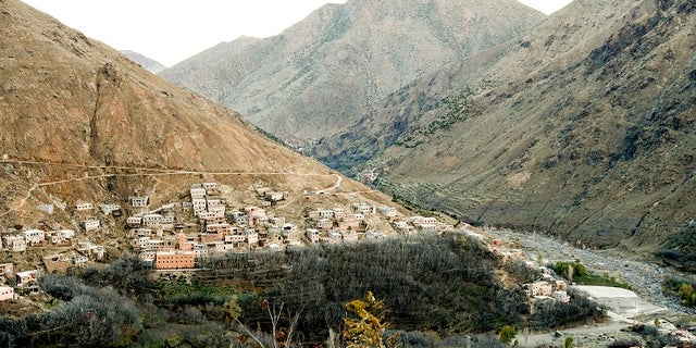 The remote village of Imlil nestled on the slopes of the Atlas mountains in Morocco, Thursday Dec. 20, 2018, about six miles from the spot where the bodies of two Scandinavian women were found.