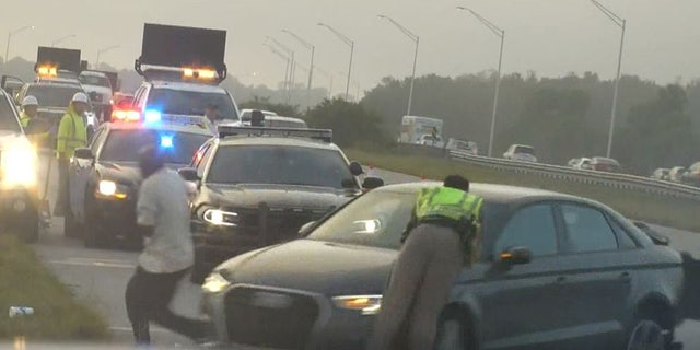 Trooper Mithil Patel was struck after responding to another accident on Interstate 95 on Monday.
