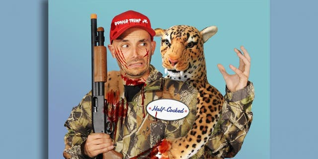 Donald Trump Jr. has responded to PETA's costume by calling the organization out on its high animal euthanizing rate.(PETA)