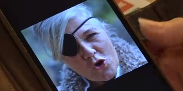 Petra van Kalmthout said she wore an eyepatch for years before being used for a prosthesis. (CEN)