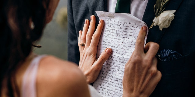 A bride read her husband a letter on their wedding day that she wrote to him years before they ever met.
