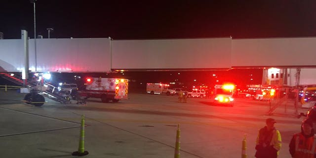 The injured individuals were taken to area hospitals for care, the airport said.
