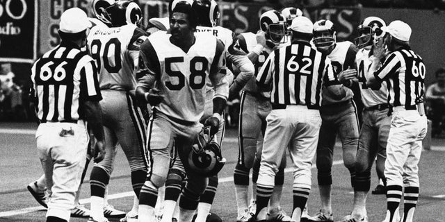 Isiah Robertson played for the Los Angeles Rams from 1971 to 1978.