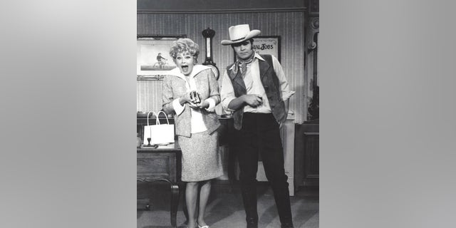Rich Little and Lucille Ball.