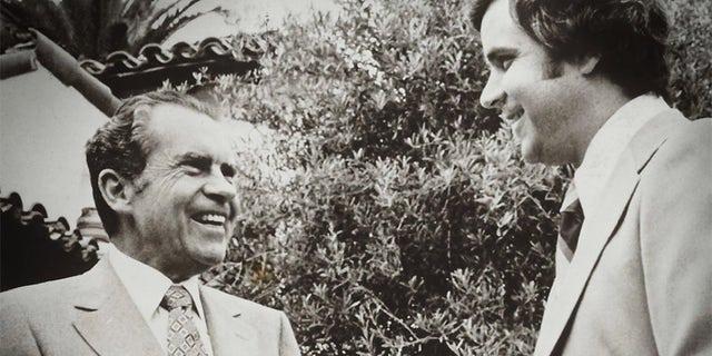 Richard Nixon with Rich Little.