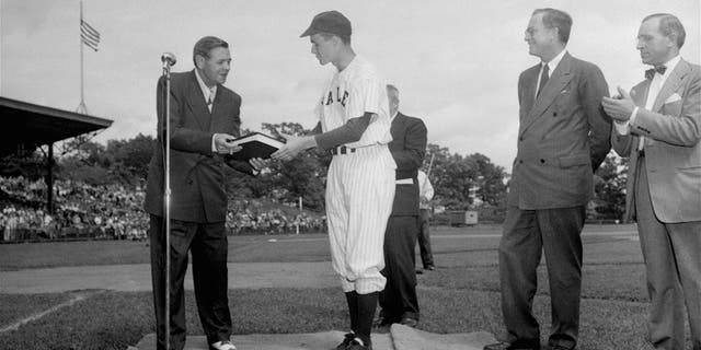 Babe Ruth and George H.W. Bush in 1948.