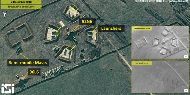 The images show a bare ground followed by construction – before the recent escalation between Russia and Ukraine. (ImageSat International)