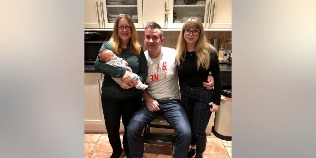 Oliver, who was born in October, will celebrate his first Christmas with his parents and 20-year-old sister, Mia.
