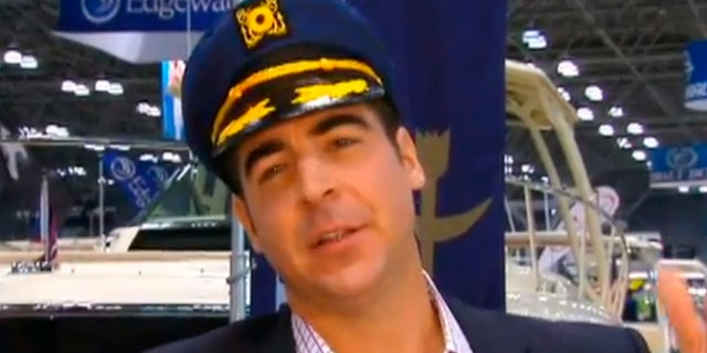 Oh captain, my captain: Jesse mingles with boat buyers at New York City's Javits Center and finds out that money and a nice suit will often make people forget that you are wearing a silly hat.