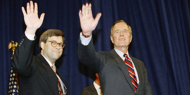 William Barr with then-President George H.W. Bush (AP)