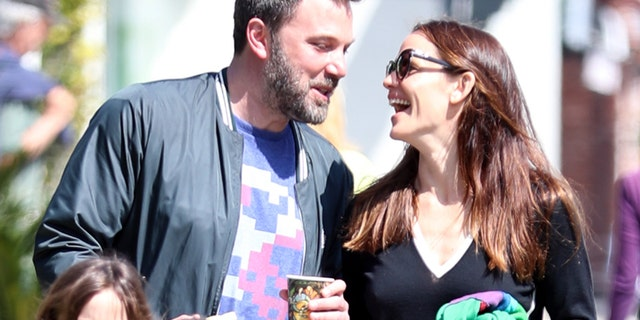 Ben Affleck and Jennifer Garner were all smiles as they took their kids to church together in Los Angeles.