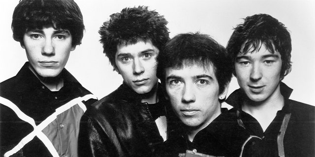 Buzzcocks' John Maher, Steve Garvey, Pete Shelley and Steve Diggle.