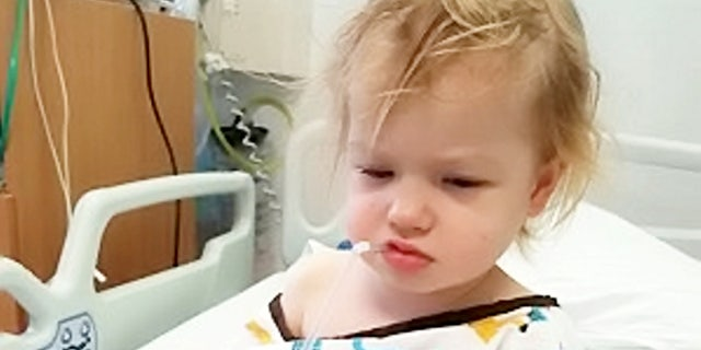 The couple first took Izzy to a doctor in January last year after a strange rash appeared on her leg.