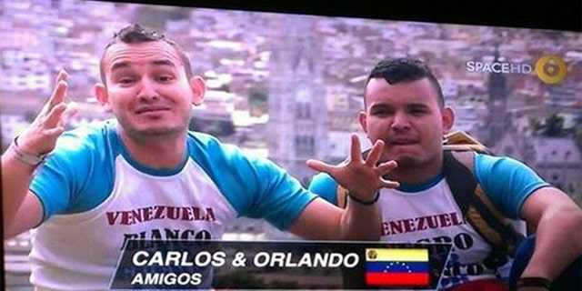 Juarez, left, was a contestant on a Latin American reality show before fleeing Venezuela.