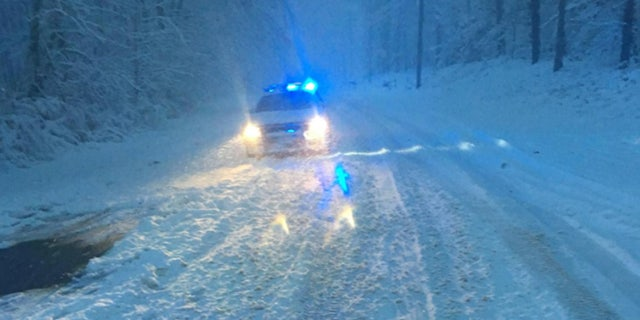 The storm was expected to bring up to a foot of snow in parts of North Carolina and Virginia.