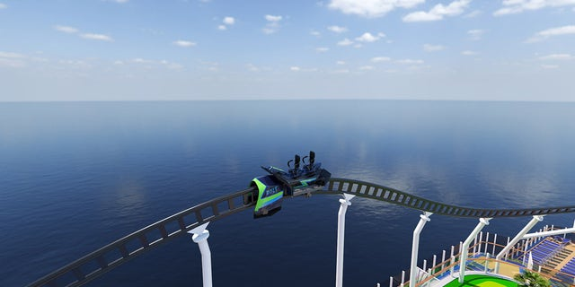 Developed by Munich-based Maurer Rides, the all-electric roller coaster will race along the track nearly 190 feet above sea level, providing riders with dramatic 360-degree views of the ship's surroundings.