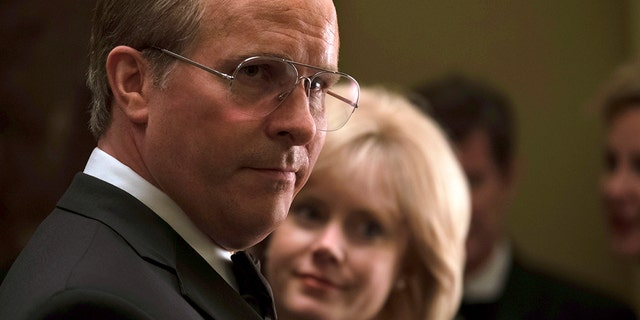 """Christian Bale as Dick Cheney and Amy Adams as Lynne Cheney in a scene from """"Vice."""" (Matt Kennedy/Annapurna Pictures via AP)"""