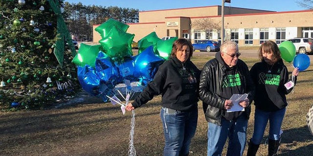 Community members and family of Jayme Closs hold a balloon release and make another plea for information two months after the teenager was reported missing.