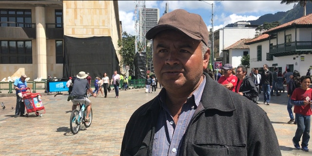 Juan de Jesus Arias, 52, fled from his home in Putumayo to the capital Bogota in early December after two of his teen daughters were targeted and killed by rebels.