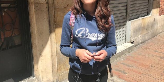 Colombian university student Angelica Toro, 20.