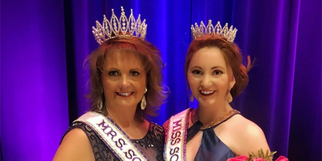 Tina Wilson, 56, was named Mrs. South Dakota while her daughter Morgan, 19, took the Miss South Dakota title at the international beauty pageant.<br>