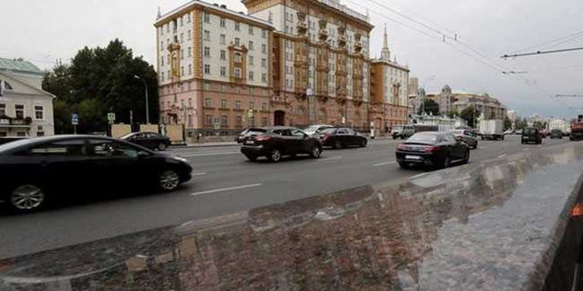 US Embassy seen In Moscow. An American has been reportedly held on spying charges in Russia. (Bahrain Ministry)