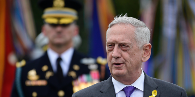FILE-On this September 21, 2018, a photo of Defense Secretary Jim Mattis speaks at the Pentagon Washington DC during the POW / MIA National Recognition Day 2018. President Donald Trump says Mattis will retire in late February 2019. (AP Photo / Susan Walsh, file)