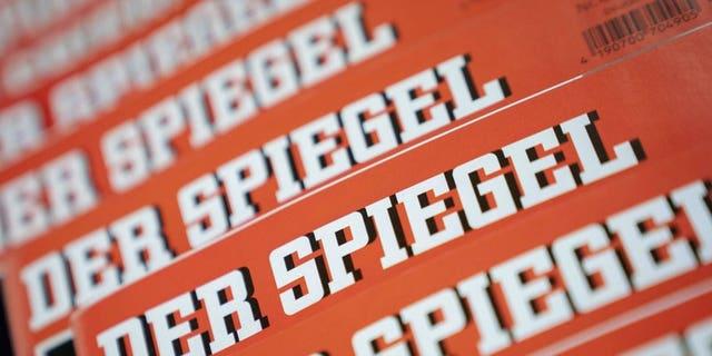 German news magazine Spiegel arranged on a table in Berlin
