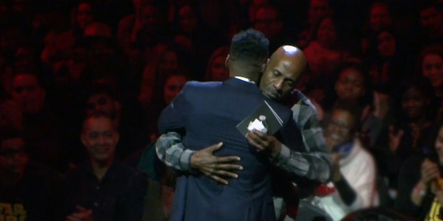 Pastor Darnell Barrett surprised the congregation at Hillsong Church NYC last Sunday in an emotional service.