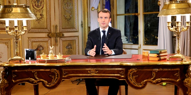 Facing exceptional protests, French President Emmanuel Macron is promising to speed up tax relief for struggling workers and to scrap a tax hike for retirees.