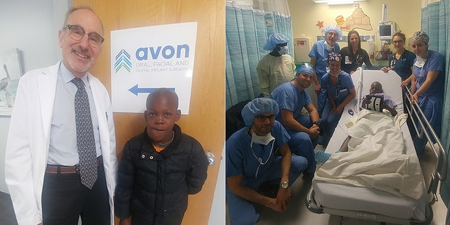 "Dr. Stuart Lieblich of Avon Oral, Facial and Dental Implant Surgery did the surgery for ""Little John"" pro bono after seeing his photo on a trip to Haiti."