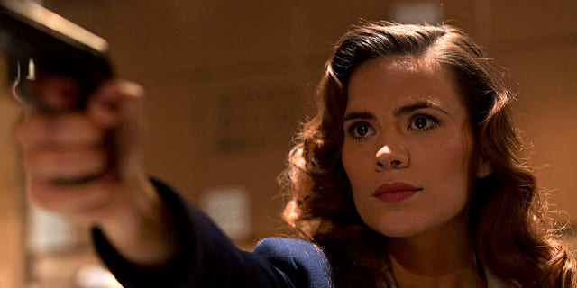 """Hayley Atwell as Agent Peggy Carter in """"Agent Carter"""""""