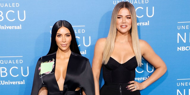 Kim Kardashian West and Khloe Kardashian graphic here in May 2017.