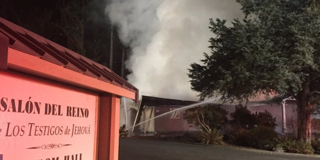 The fire at the Jehovah's Witness Kingdom Hall in Lacey, Wash. was the fifth blaze in an apparent series of targeted attacks.