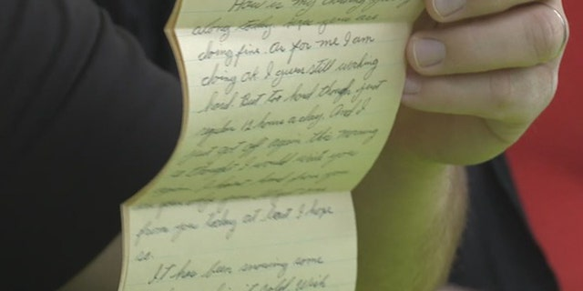 The love letter from Max Holcomb was found three weeks ago on the floor at a Walmart in Dalton, Ga.
