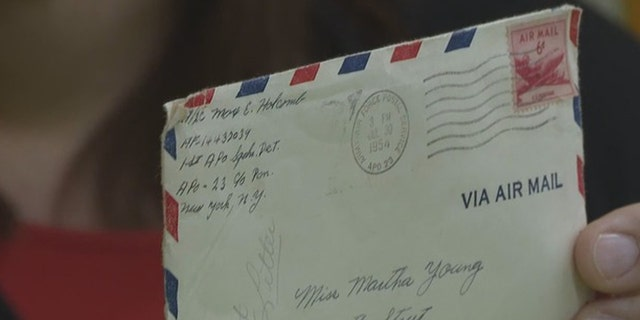 The 64-year-old letter was written by Max Holcomb to his sweetheart Martha Young during his service in the U.S. Air Force.