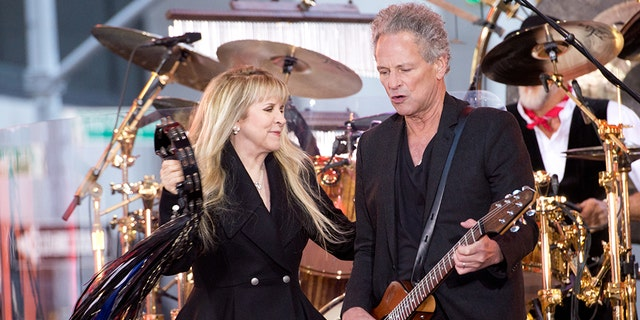Stevie Nicks and Lindsey Buckingham of Fleetwood Mac perform on NBC's 'Today' show on October 9, 2014 in New York, New York.