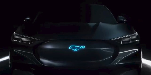 Ford included this rendering of what may be the hybrid Mustang in a new TV ad.
