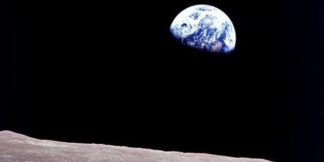 . This well-known Earthrise image was captured by Apollo 8. (NASA)