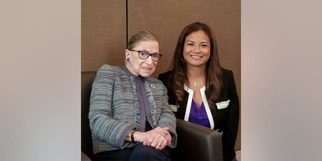 Jessica Arong O'Brien with Supreme Court Justice Ruth Bader Ginsburg.