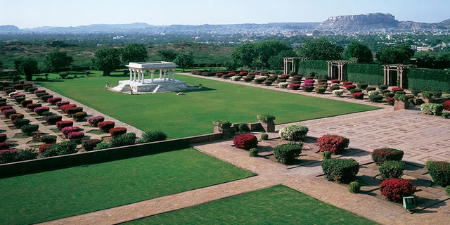 """While part of the palace is a hotel, another part still houses the """"erstwhile royal family of Jodhpur, and is one of the last remaining great palaces of India,""""according to the hotel's website."""