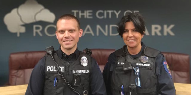 """Congrats to Officer Suffield and Officer Snepp for making another difference in RP and for a job well done."""