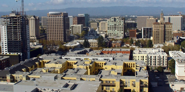 Silicon Valley's capital city San Jose, California, is seen in this aerial photo.