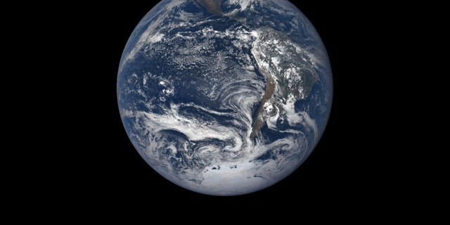 NASA's DSCOVR satellite took this photo of Earth on Dec. 20, 2018, one day before the solstice.
