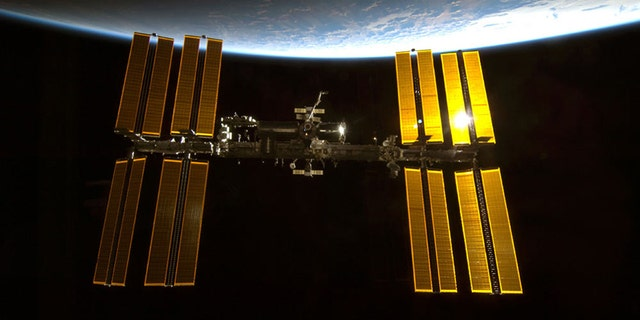 The International Space Station, photographed by an astronaut aboard the space shuttle Endeavour in 2010.
