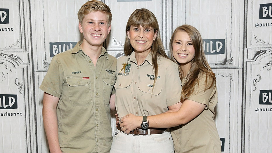 Bindi Irwin's baby Grace Warrior meets some of the animals at Australia Zoo