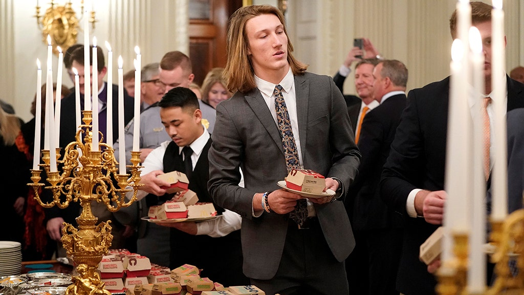 Clemson QB says social media quotes about White House meal were faked